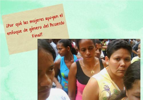 Mujeres salen a la Plaza de Bolívar a respaldar el AcuerdoFinal