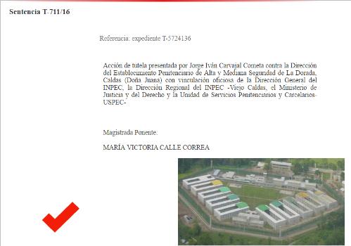 La sentencia que 'refresca' a presos de la caliente LaDorada