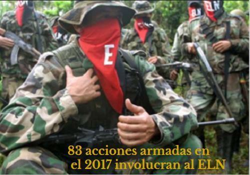 78 acciones armadas involucran al ELN desde que iniciaron los diálogos entre esa guerrilla y elGobierno